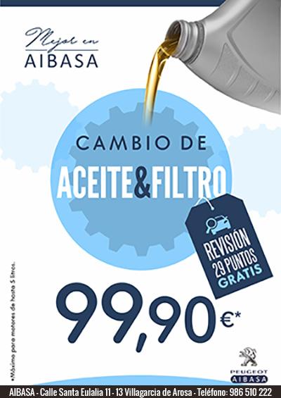 Oferta Cambio de Aceite y Filtro